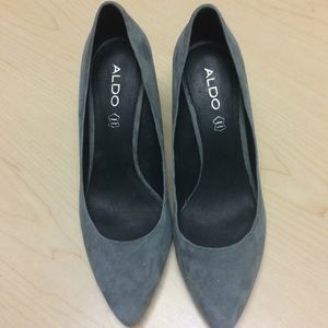 Aldo leather gray heels sz 10